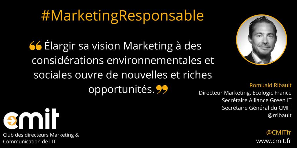 Citation Marketing Responsable CMIT Romuald Ribault