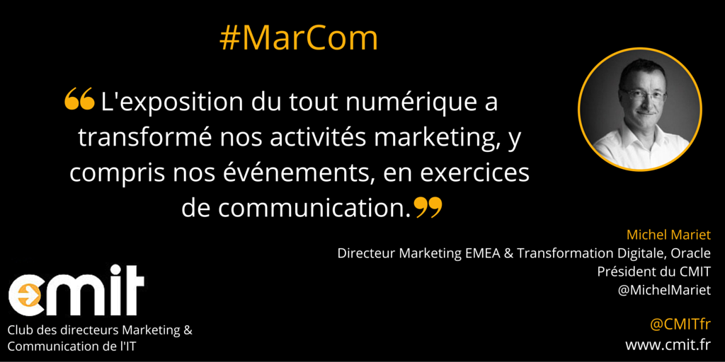 Citation MarCom CMIT Michel Mariet #MarCom