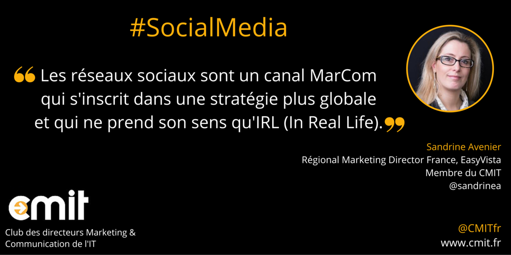 Citation CMIT Sandrine Avenier Social Media