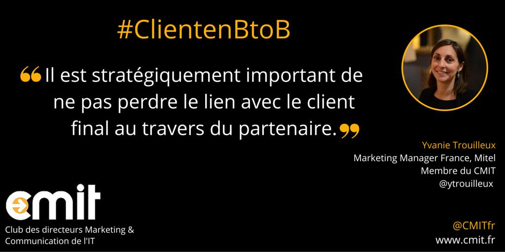 Citation CMIT Yvanie Trouilleux Client en BtoB