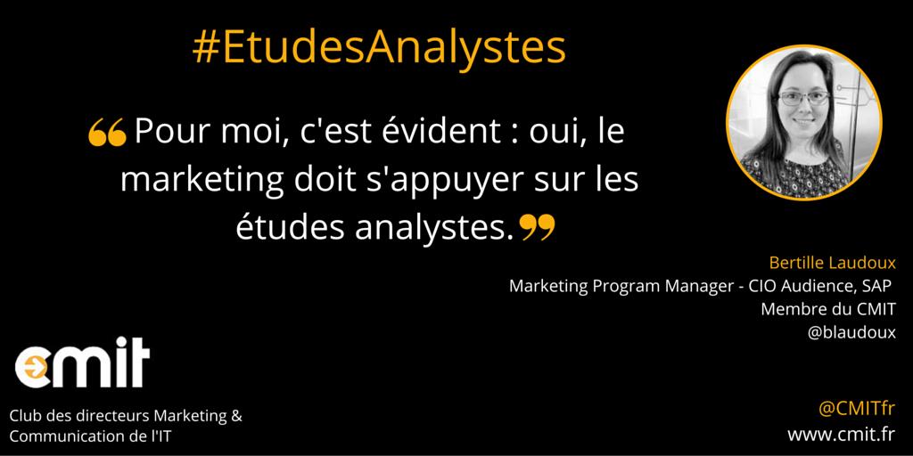 Citation Etudes Analystes CMIT Bertille Laudoux