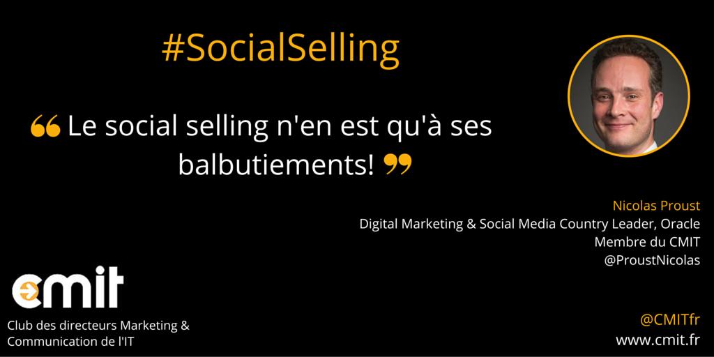 Citation Social Selling CMIT Nicolas proust