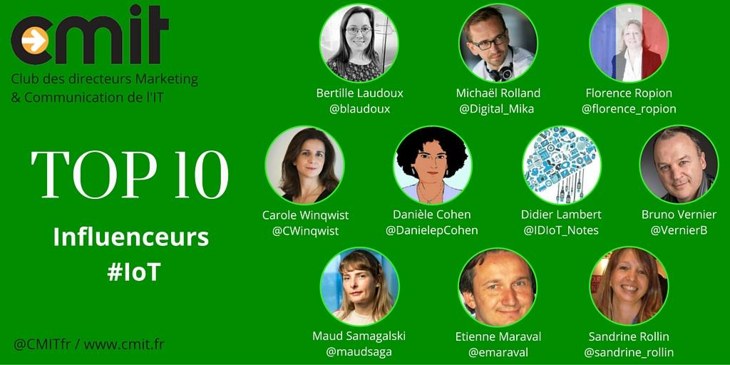 Top 10 Influenceurs CMIT IoT