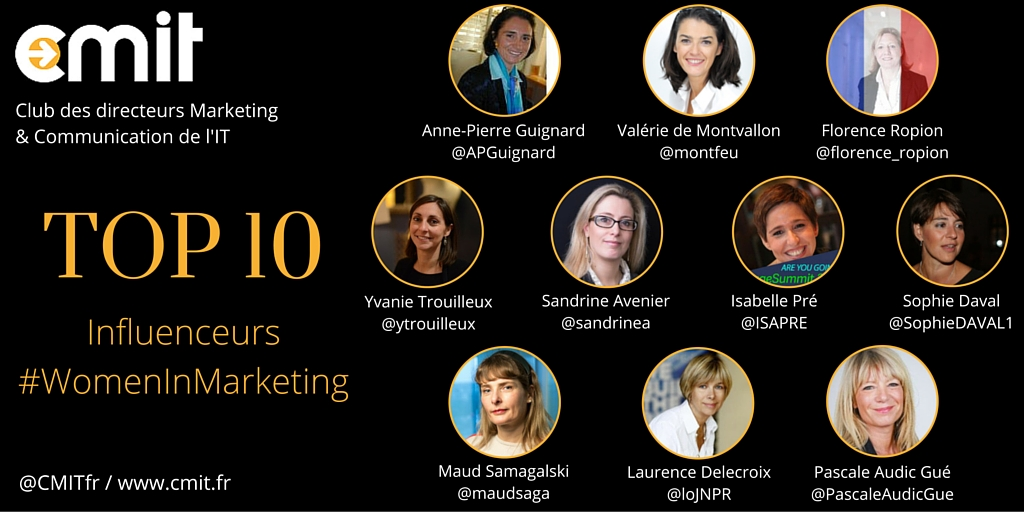 Top 10 Influenceurs #WomenInMarketing by CMIT