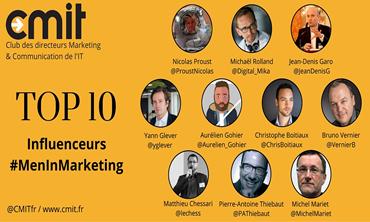 Top 10 Influenceurs MenInMarketing CMIT