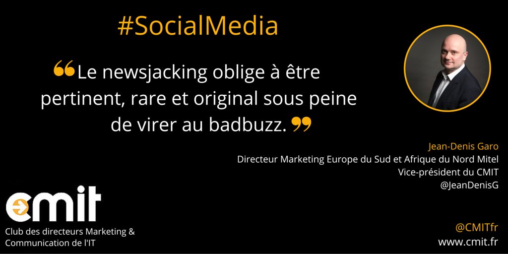 Citation CMIT Jean-Denis Garo Social Media