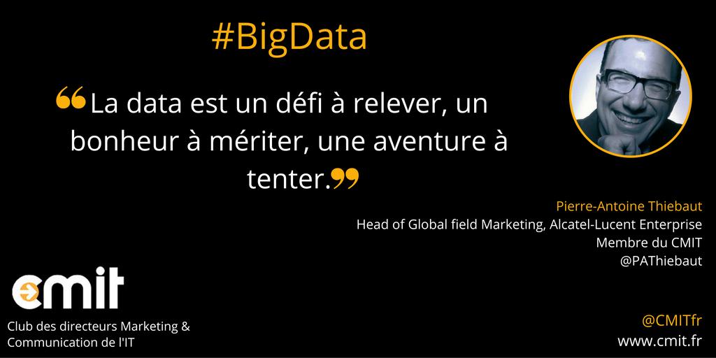 Citation CMIT Pierre-Antoine Thiebaut #BigData