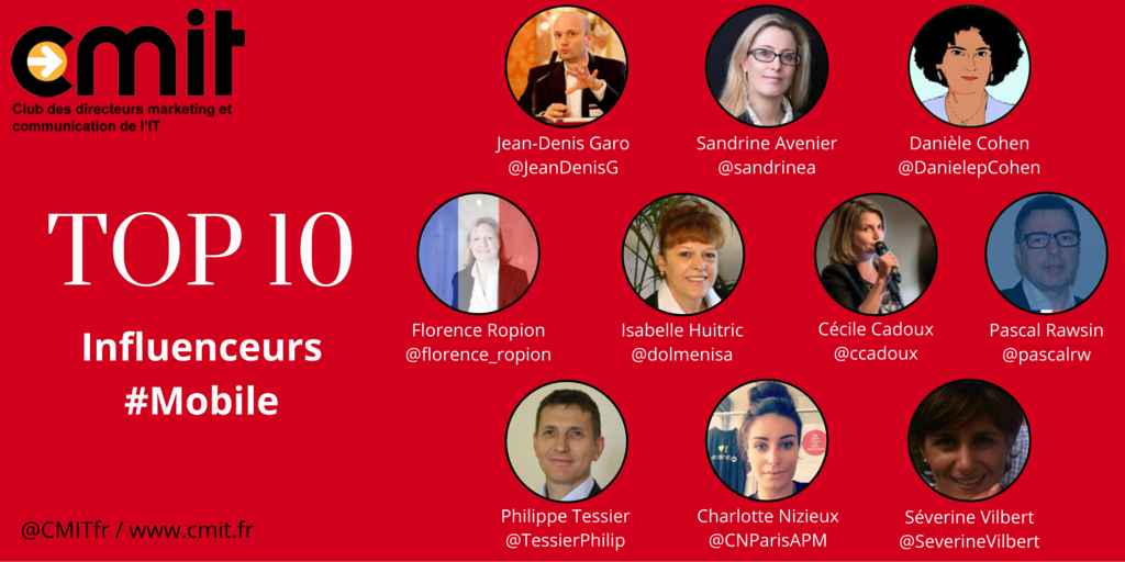 TOP 10 Influenceurs CMIT #Mobile