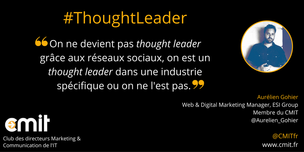 citation cmit aurelien gohier Thought Leader